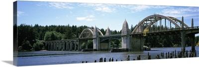 Bridge across the river Siuslaw River Bridge Siuslaw River Florence Oregon