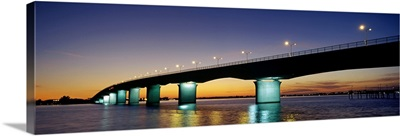 Bridge across the sea, Ringling Bridge, Harts Landing, Sarasota, Sarasota County, Florida,
