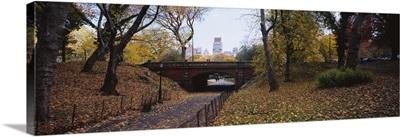 Bridge in a park, Central Park, Manhattan, New York City, New York State