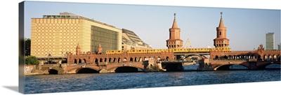 Bridge on a river, Oberbaum Brucke, Berlin, Germany