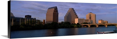 Bridge over a river, Congress Avenue Bridge, Austin, Texas