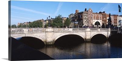 Bridge over a river, OConnell Bridge, Liffey River, Dublin, Republic of Ireland