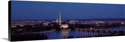 Bridge Over A River, Washington Monument, Washington DC, District Of Columbia