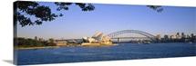 Bridge over water, Sydney Opera House, Sydney, New South Wales, Australia