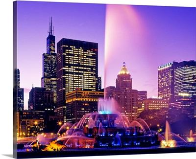 Buckingham Fountain, Grant Park, Chicago, Cook County, Illinois