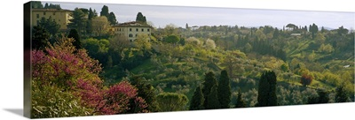Building on a hill, San Niccolo, Florence, Tuscany, Italy
