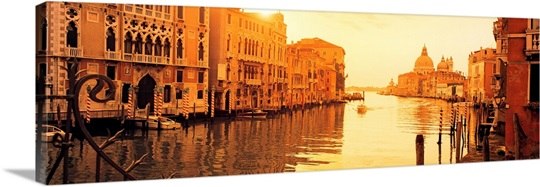 Buildings along a canal, view from Ponte dellAccademia, Grand Canal, Venice, Italy