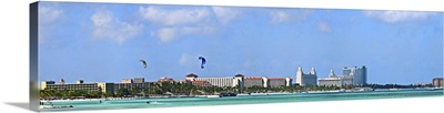 Buildings at the waterfront, Aruba