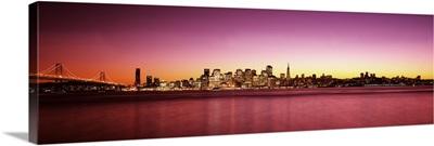 Buildings at the waterfront, Bay Bridge, San Francisco Bay, San Francisco, California,