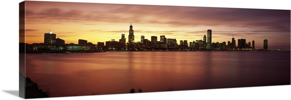 Buildings at the waterfront, Lake Michigan, Chicago, Cook County, Illinois