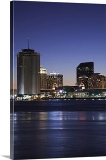 Buildings at the waterfront, Mississippi River, New Orleans, Louisiana