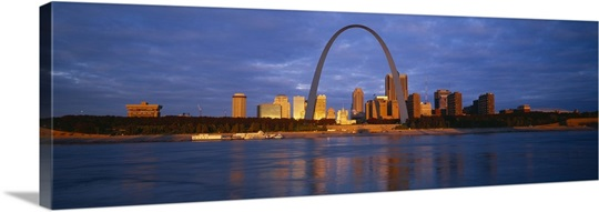 Buildings At The Waterfront, Mississippi River, St. Louis, Missouri