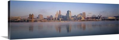 Buildings at the waterfront, Ohio River, Cincinnati, Ohio