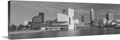 Buildings at the waterfront, Rock And Roll Hall of Fame, Cleveland, Ohio