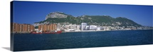 Buildings at the waterfront, Rock of Gibraltar, Gibraltar