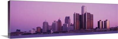 Buildings in a city, Detroit, Michigan