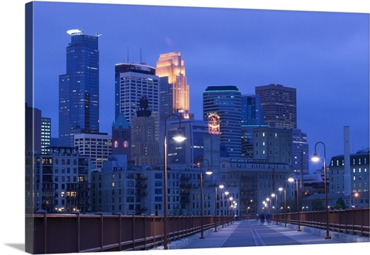 Buildings in a city, Minneapolis, Minnesota Wall Art, Canvas Prints ...