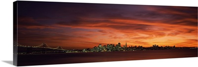 Buildings in a city, View from Treasure Island, San Francisco, California,