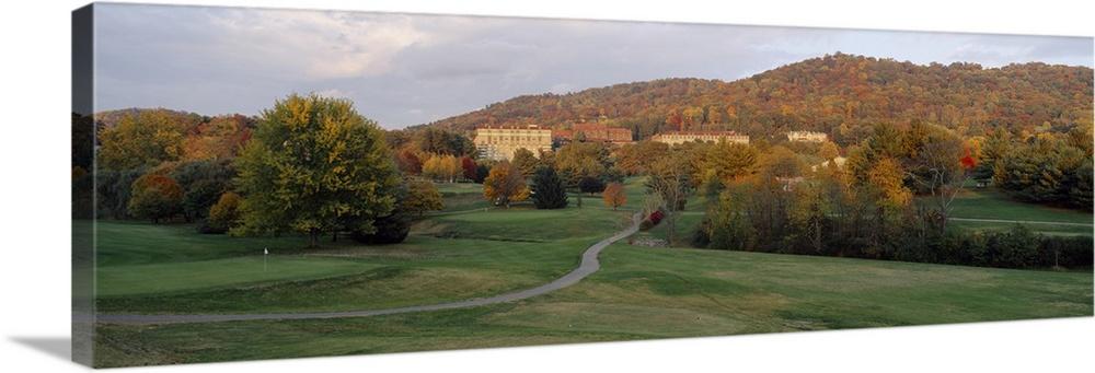 Buildings on a hill, Grove Park Inn, Asheville, Buncombe County, North Carolina