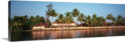 Buildings on the waterfront, Kerala, India