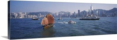 Buildings on the waterfront, Kowloon, Hong Kong, China