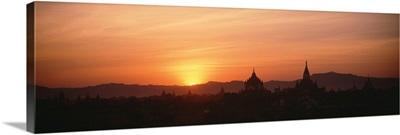Burma, Pagan, sunset