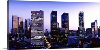 California, Los Angeles, Skyline at Dusk