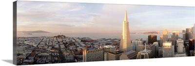 California, San Francisco, Skyline with Transamerica Building