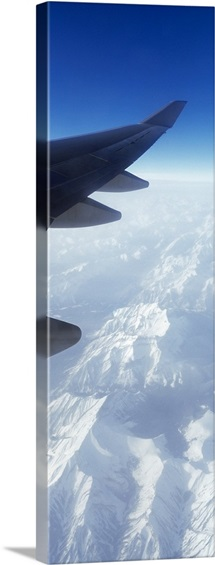 Canadian Rockies from Airplane Window