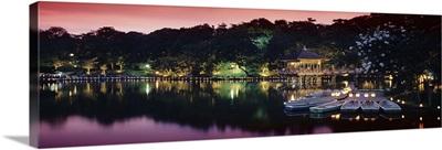 Candlelight festival, Ukimido Pavilion, Nara Park, Nara City, Japan