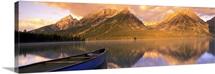 Canoe Leigh Lake Grand Teton National Park WY