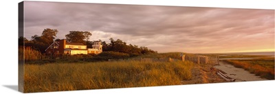 Cape Cod Beach House at Sunset MA