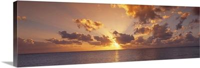 Caribbean Sea, Cayman Islands, Seven Mile Beach, Sunset