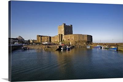 Carrickfergus Castle(1177) and Harbour, County Antrim, Ireland