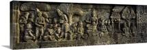 Carvings on the wall, Borobudur Temple, Java, Indonesia