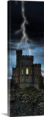 Castle getting hit by lightning