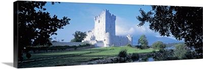 Castle in front of a park, Ross Castle, Killarney National Park, Killarney, County Kerry, Republic of Ireland