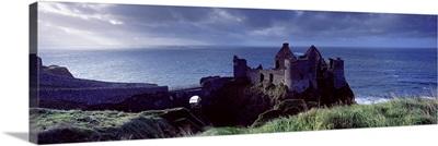 Castle on the coast, Dunluce Castle, County Antrim, Northern Ireland