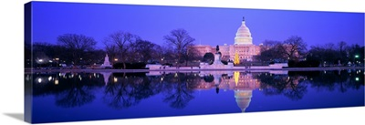 Christmas US Capitol Washington DC