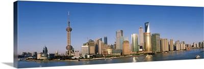 City at the waterfront Huangpu River Pudong Shanghai China