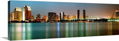 City skyline at night San Diego California