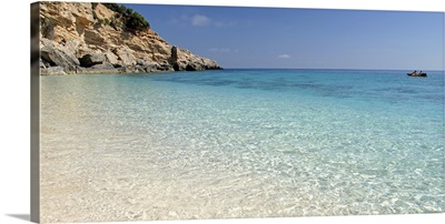 Cliff at seaside, Cala Mariolu, Golfo Di Orosei, Sardinia, Italy