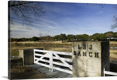 Close-up of a gate in a park, Lyndon B. Johnson National Historical Park, Johnson City, Texas