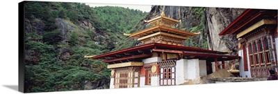 Close-up of a monastery, Taktshang Monastery, Paro, Bhutan