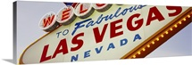 Close-up of a welcome sign, Las Vegas, Nevada