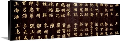 Close-up of Chinese ideograms, Beijing, China