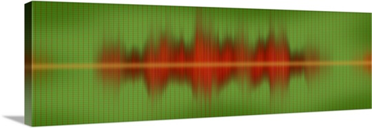Close-up of sound waves