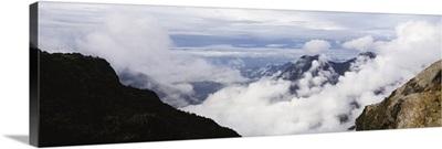 Clouds near a mountain range, Mt Kilimanjaro, Tanzania