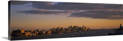 Clouds over a city at dusk, Manhattan, New York City, New York State