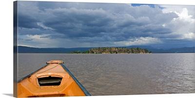 Clouds over a lake, Gibralta Island, Lake Baringo, Kenya